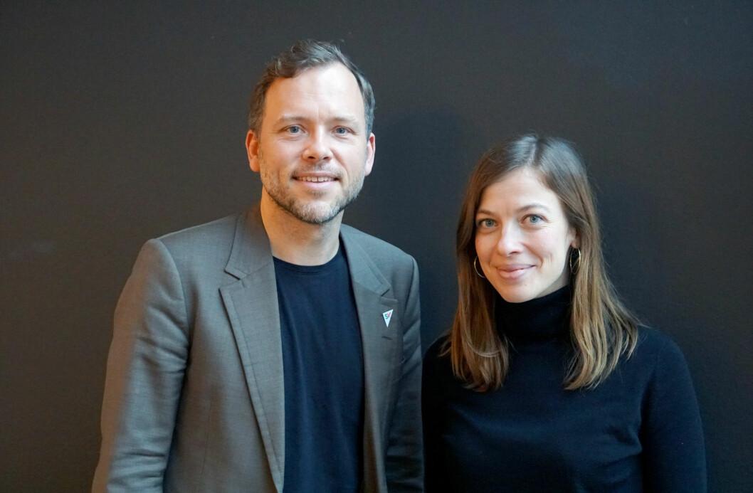 SV-leder Audun Lysbakken og Finlands utdanningsminister Li Andersson