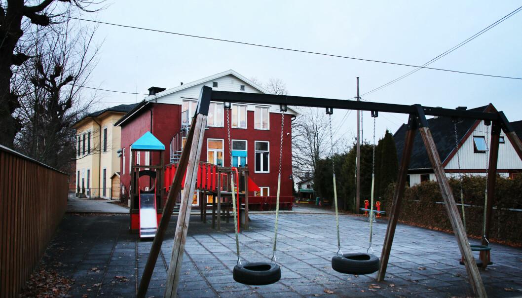 100meterskogen barnehage på Grefsen i Oslo. Foto: Jørgen Jelstad.