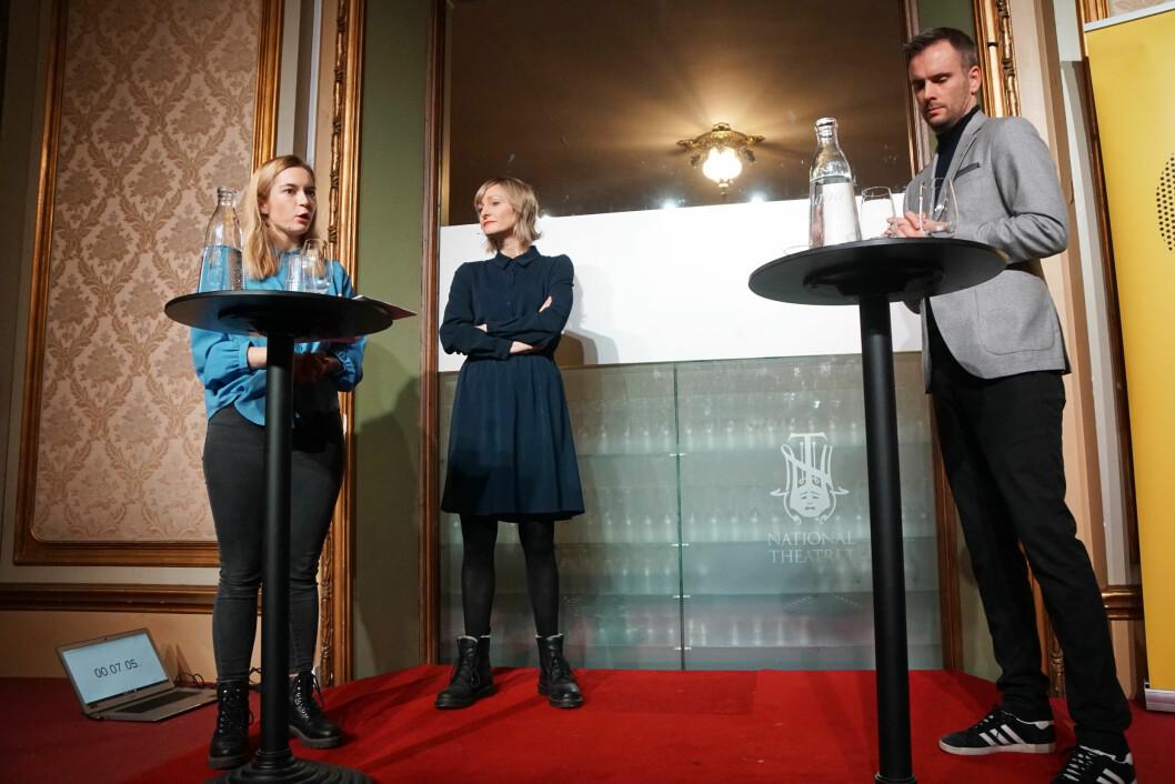 Isfront da Magnus Marsdal ledet debatten mellom Mathilde Tybring-Gjedde og Inga Marte Thorkildsen