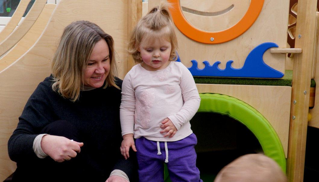 Styrer Charlotte Guin ved Lerkehaug barnehage i Steinkjer.