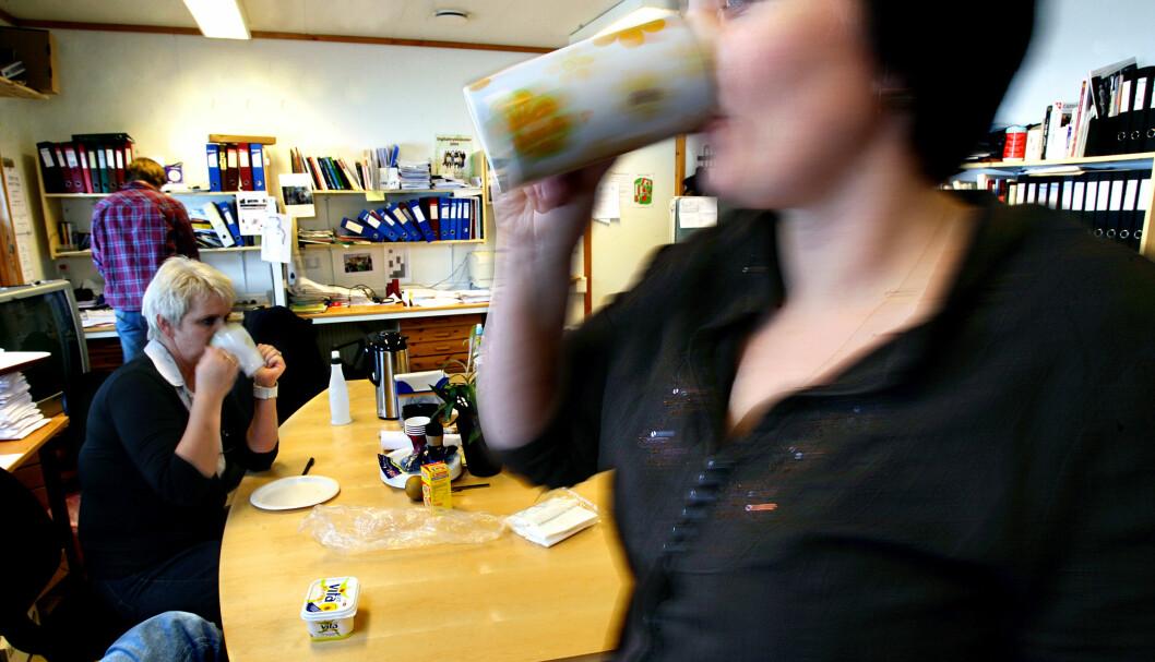 Pause skal ikke være inkludert i arbeidstida til kontorpersonale, meiner KS (Illustrasjonsfoto: