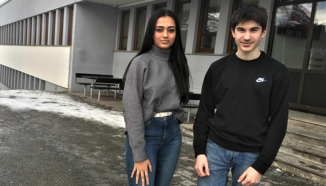 Raziye (15) og Arbi (15) går i tiende klasse og synes en skoleuke med fokus på sex har vært nyttig.