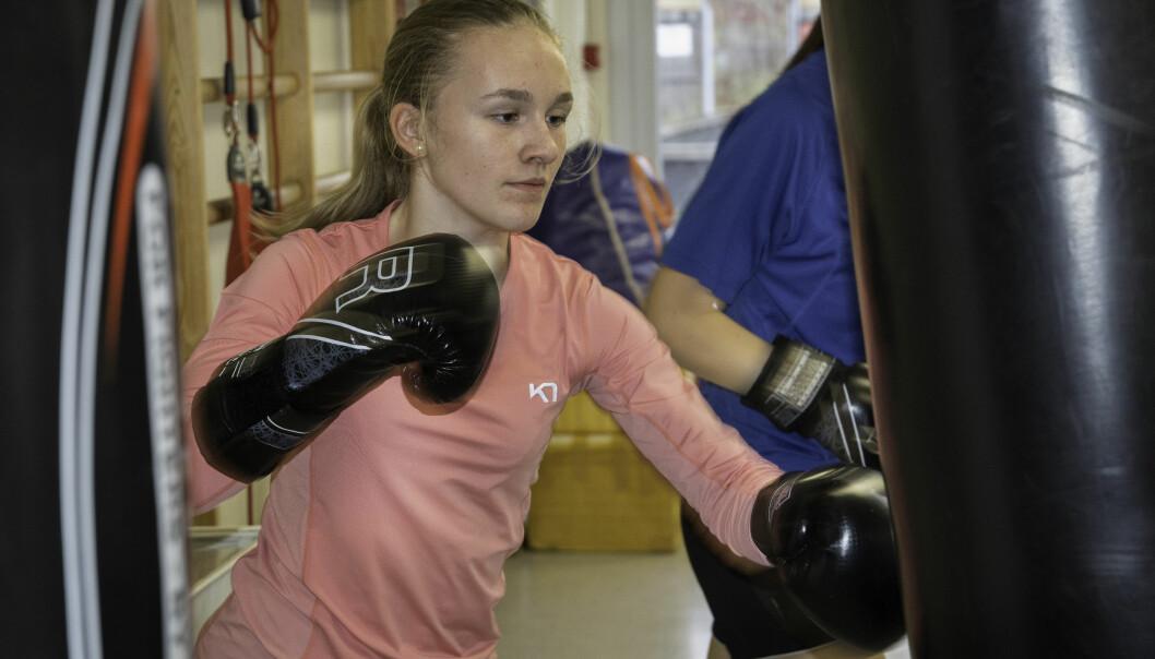 Ragnhild Haugsdal Olsøybakk har fått fart på boksehanskene.