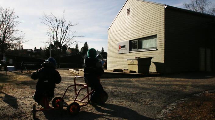 Myrer Kanvas-barnehage i Oslo har høy husleie. De leier av Oslo kommune. Foto: Jørgen Jelstad.