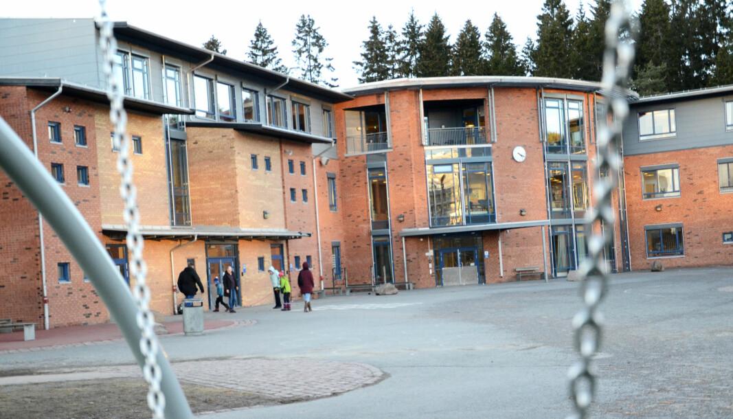 Siv Presthus arbeidet her, ved Ammerud skole i Oslo.
