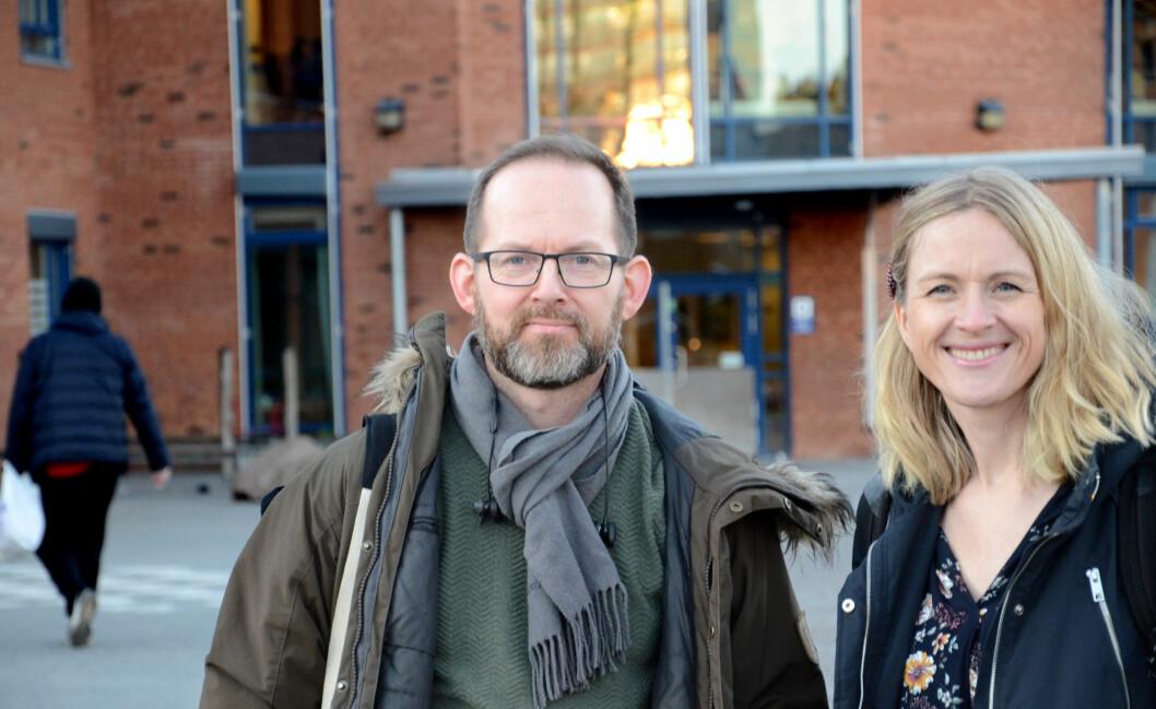 """Kjetil Jørve og Meyla Sylvestog Enerly i FAU forteller at """"Timen Livet"""" har skapt reaksjoner blant foresatte."""