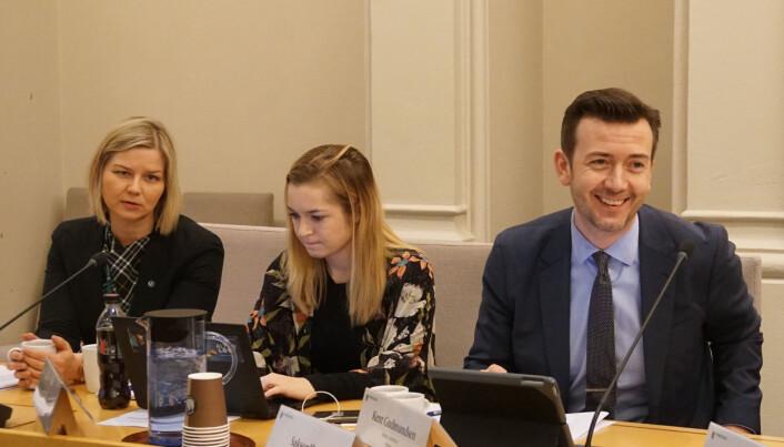 Guri Melby var tilstede på høringen om nasjonale prøver i Stortinget tirsdag.