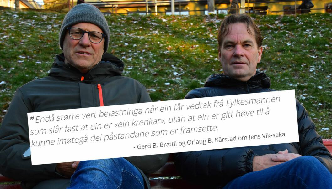 Jens Vik (t.v) og rektor Paul Ivar Pedersen.