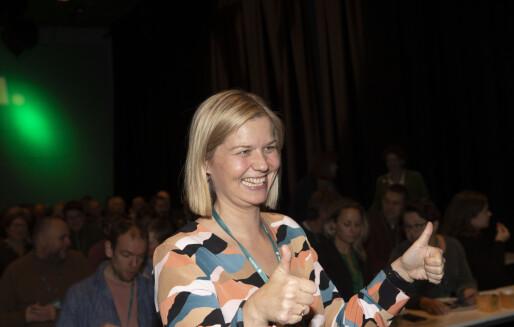 Folketomt da Guri Melby (V) ble presentert som ny kunnskapsminister