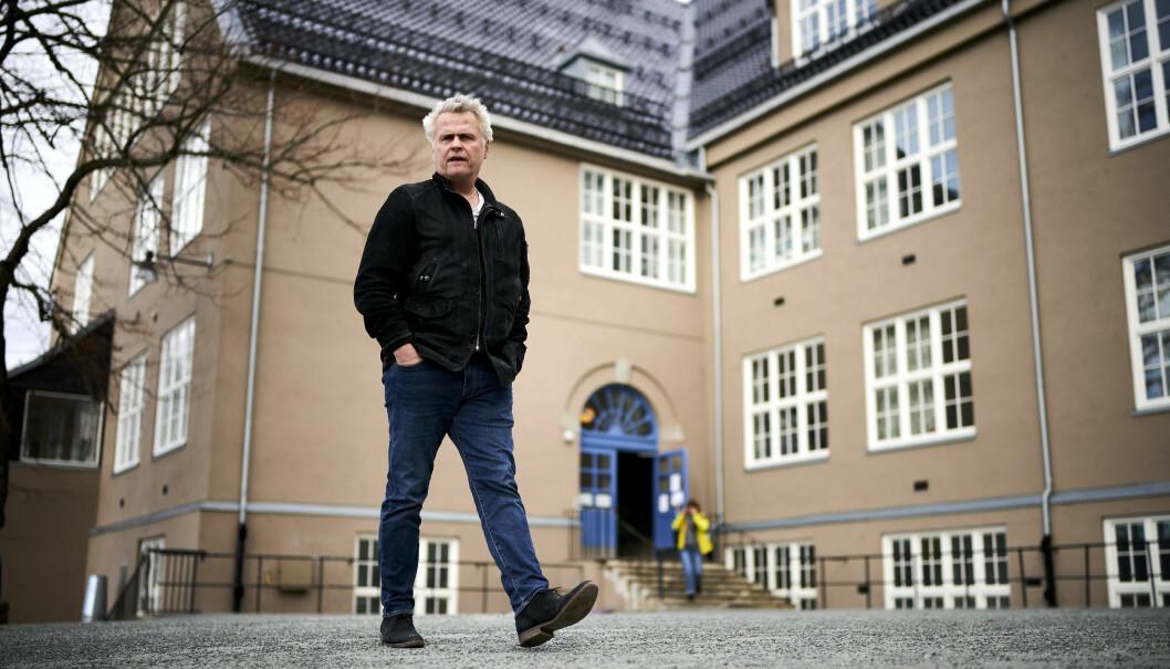 Rektor Sten Frode Solvang, ved Singsaker skole i Trondheim