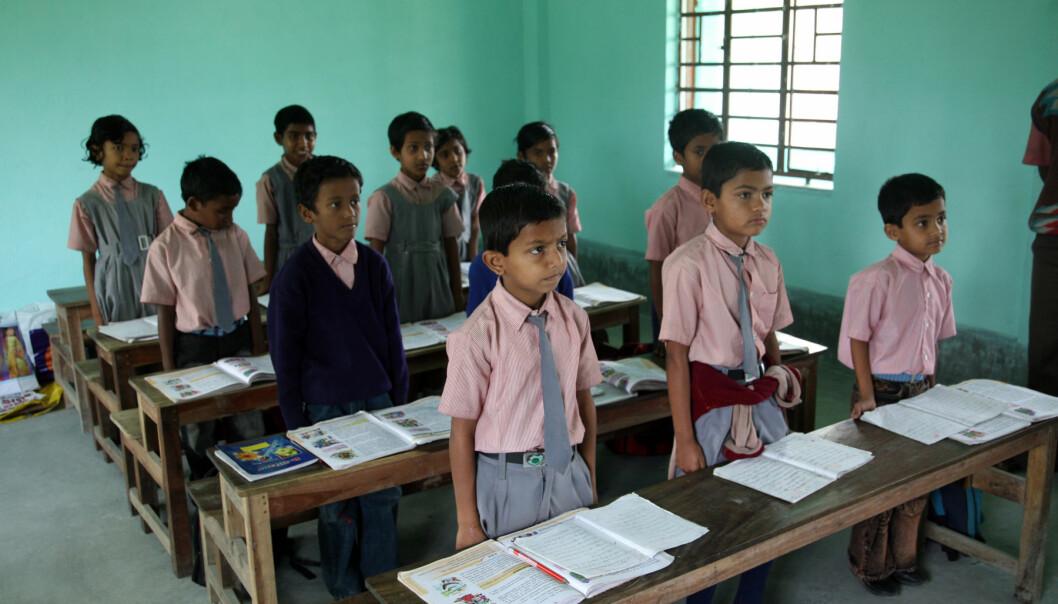 I India er bare noen skoler i enkelte regioner delvis stengt.