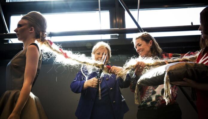 Erna Solberg åpnet Kuben videregående skole med brask og bram i 2013.