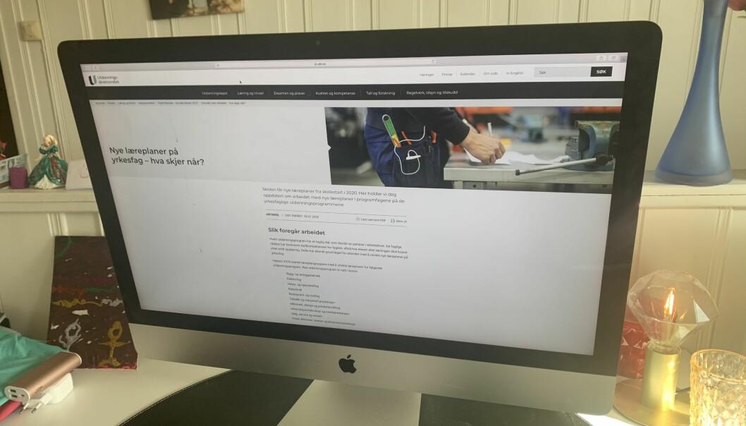 Arbeidet med nye læreplaner, slik det ser ut fra hjemmekontor i Korona-Norge.