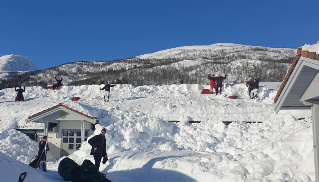 Snødugnad i Harstad.