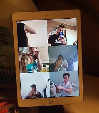 Et eksempel på hvordan undervisningen foregår digitalt.