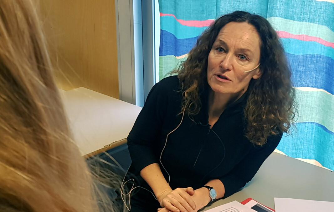 Folkehelseinstituttet, her ved direktør Camilla Stoltenberg, advarer mot regjeringens forslag om mer bruk av hjemmeskole.