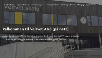 Slik ser den nye hjemmesiden til Aks på Veitvet skole ut.