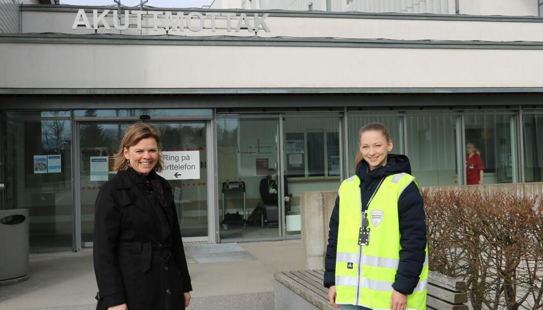 Barnehagelærer Cecilie Kjus (t.h.) og avdelingsleder Stine Tronesvold for Ahus-barnehagene.