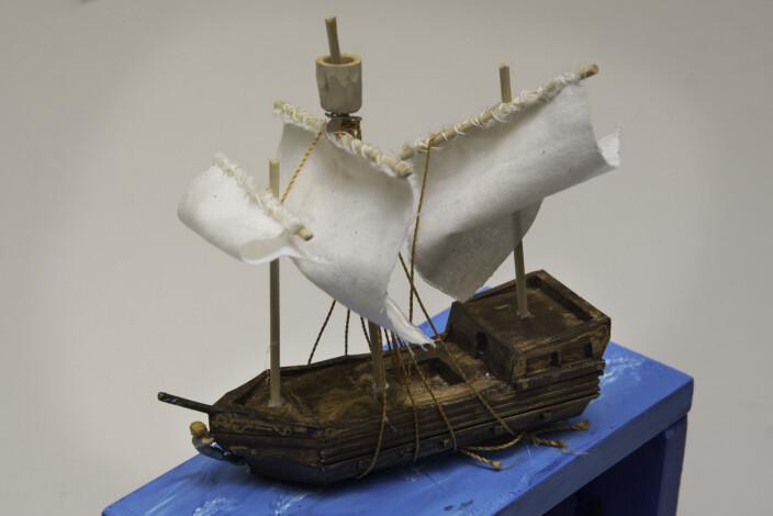 Med 3D-printer kan du for eksempel lage ei skute.