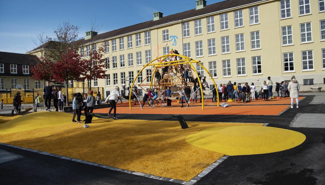 Kampen skole i Stavanger i høst - før koronaens tid.