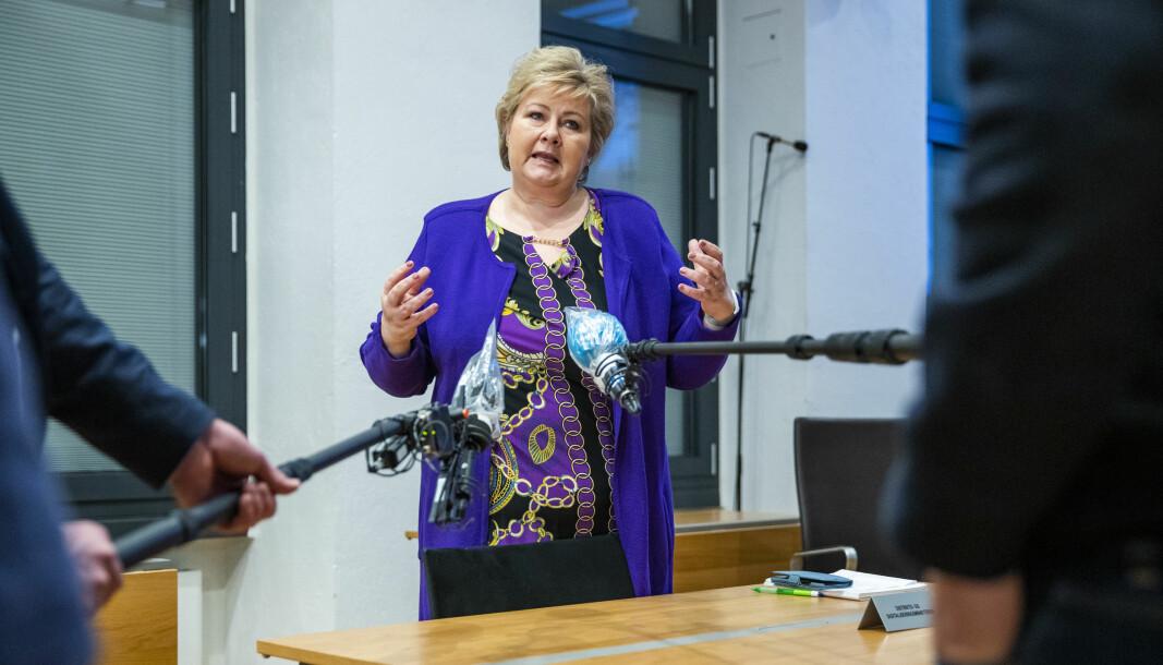 Statsminister Erna Solberg (H). Foto: Håkon Mosvold Larsen / NTB scanpix