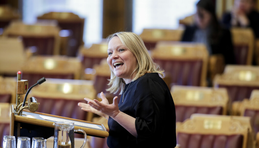 Mona Fagerås (SV) i den muntlige spørretimen tidligere i år.