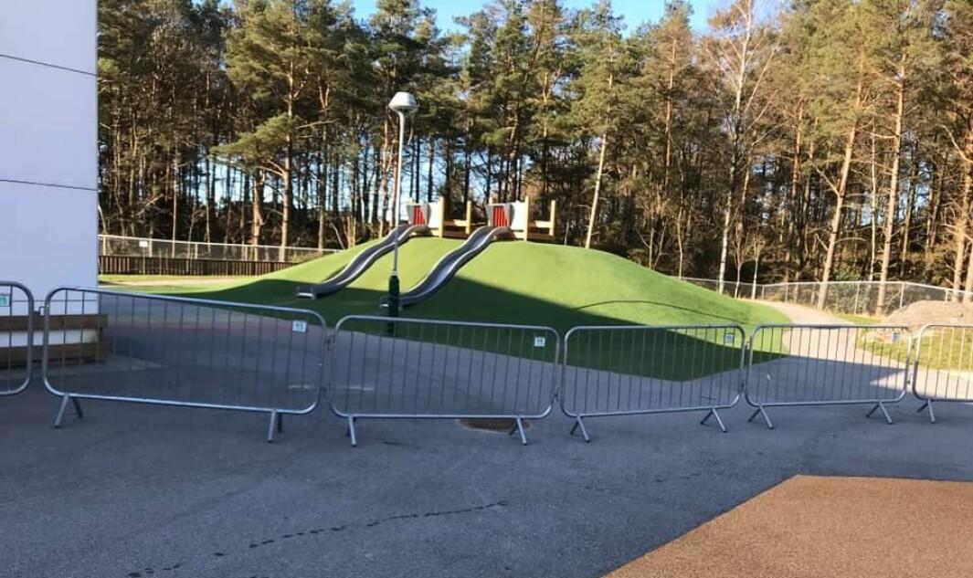 Uteområdet i Læringsverkstedet-barnehagen Solkollen Flekkerøy i Kristiansand har fått nye utesoner takket være festivalgjerder.