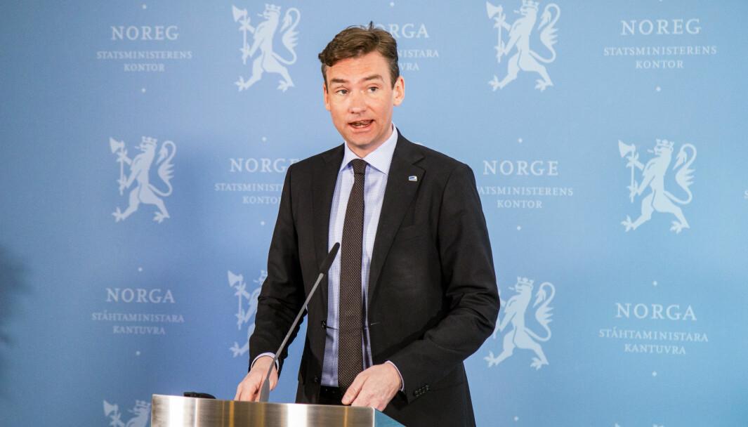 Forsknings- og høyere utdanningsminister Henrik Asheim (H)