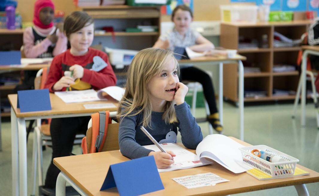 Sigrid har ikke savna skolen så veldig. <br>– Da jeg var hjemme fikk jeg fortere pause, forteller hun.