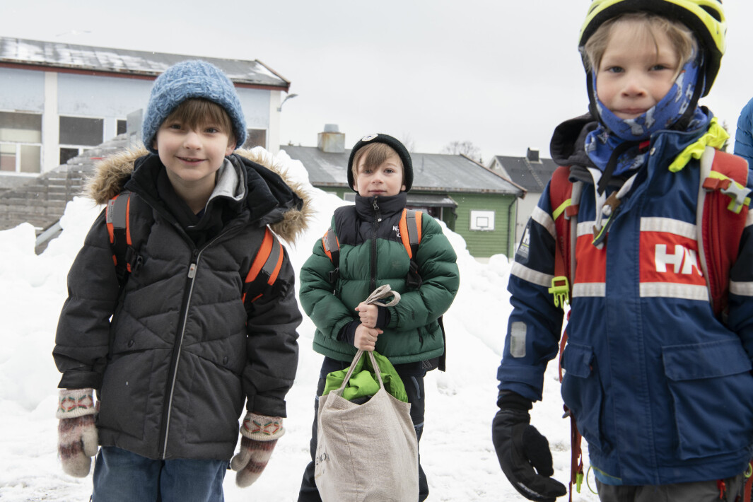 Ola, Viljar og Isak er veldig klare for å begynne på skolen igjen.