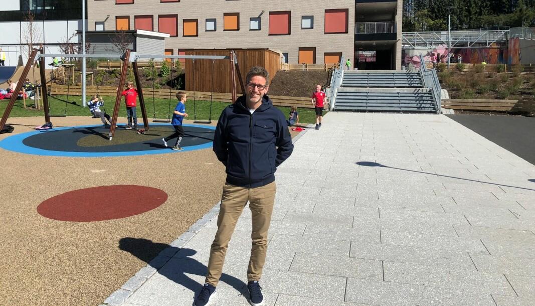 Rektor ved Bekkestua barneskole i Bærum, Hans Christian Ruud.
