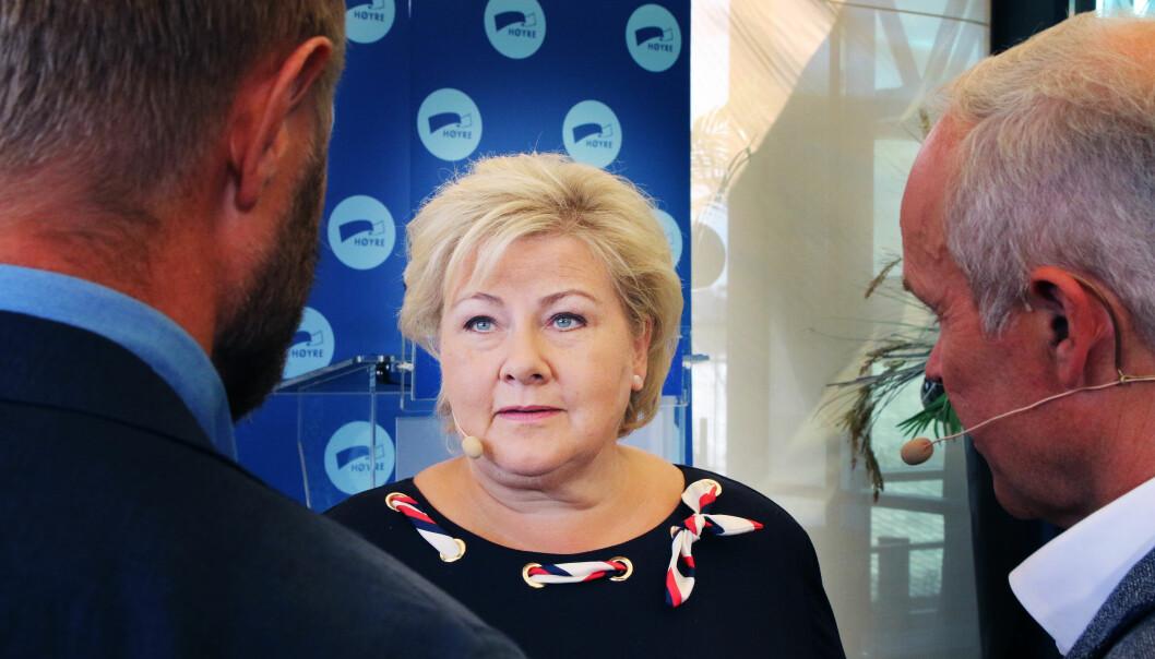 Statsminister Erna Solberg.