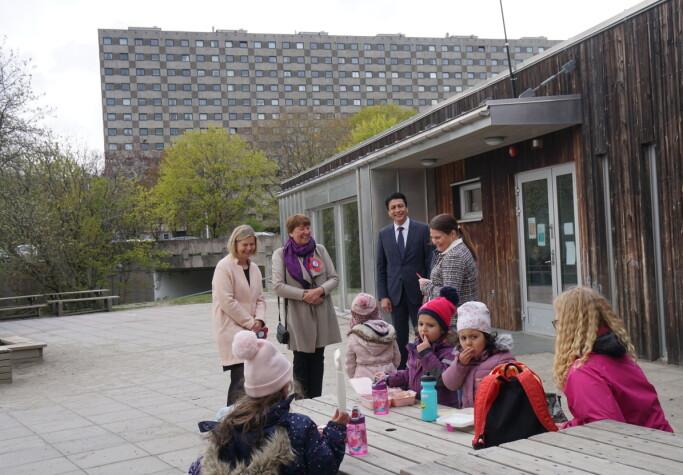 Guri Melby, Marianne Borgen, Ayub Thugra og Bodil Aglen.