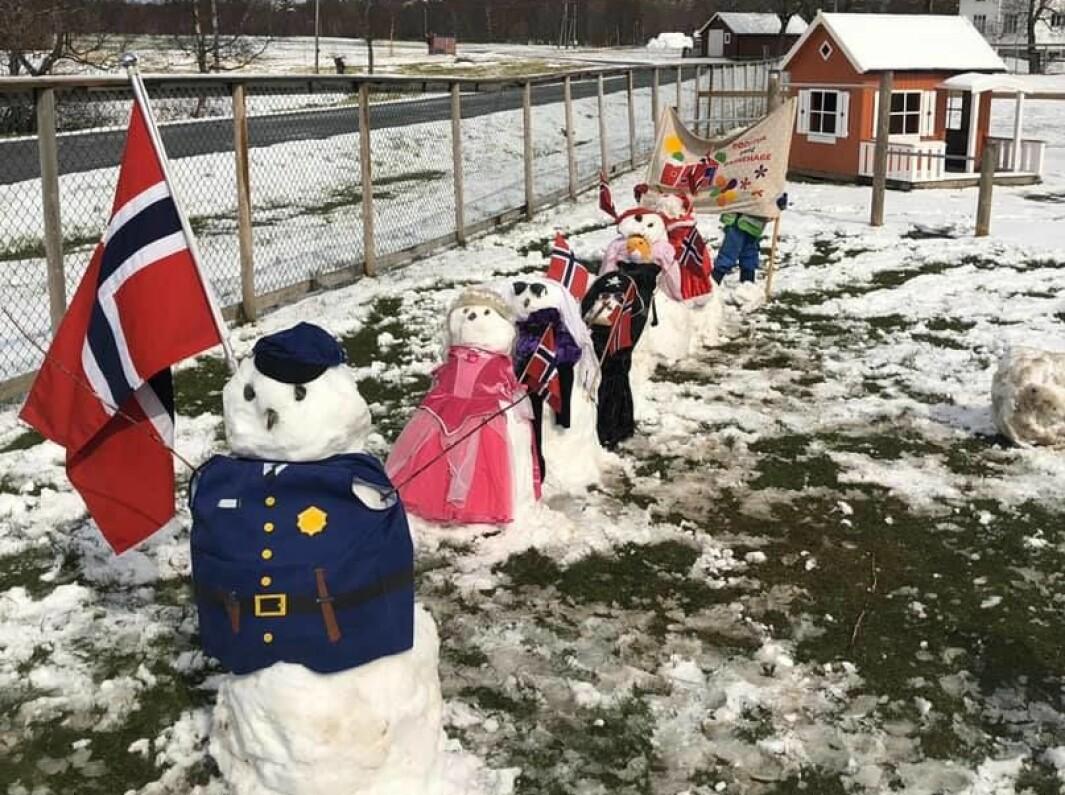 Politiet gikk først og nissen kom sist i denne barnehagen på Nesna i Nordland.
