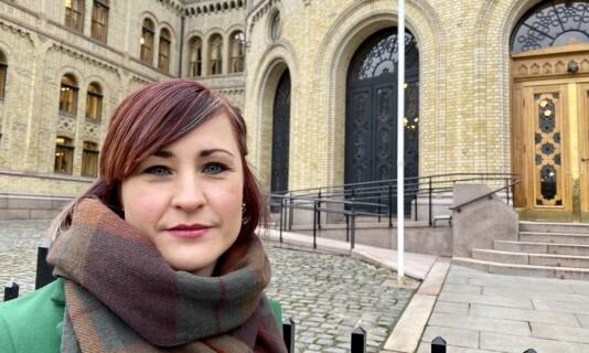 Sentralstyrets Ann Mari Milo Lorentzen utenfor Stortinget etter hring om stortingsmelding 6 om tidlig innsats