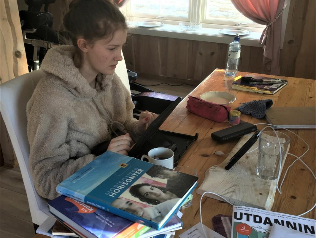 Silvia Marie Koppangen Thorsdalen har lært masse de to månedene skolen var stengt.