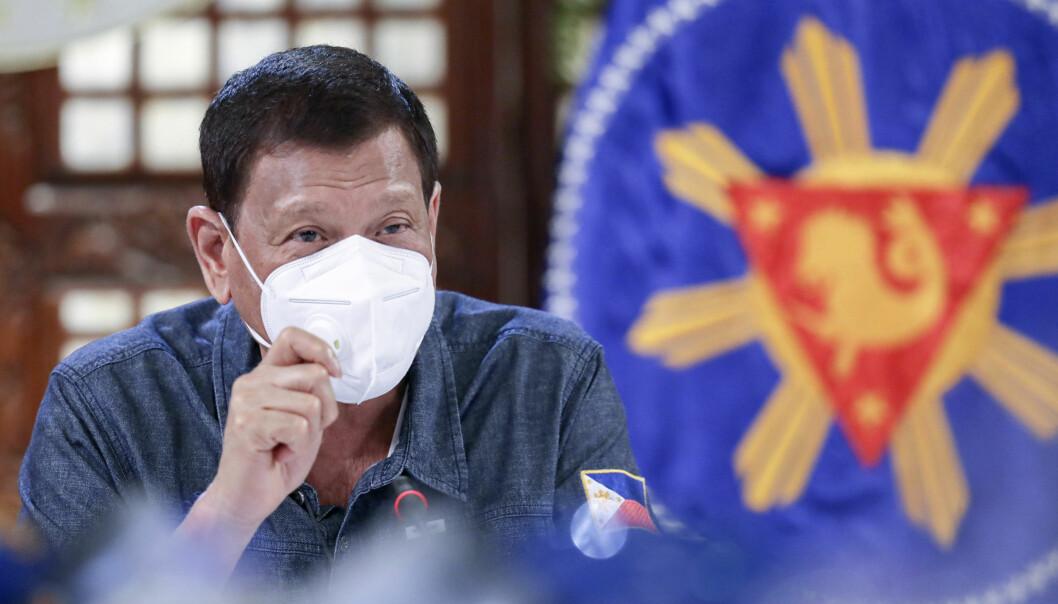 Filippinenes president Rodrigo Duterte. Foto: Ace Morandante/ Malacanang Presidential Photographers Division via AP