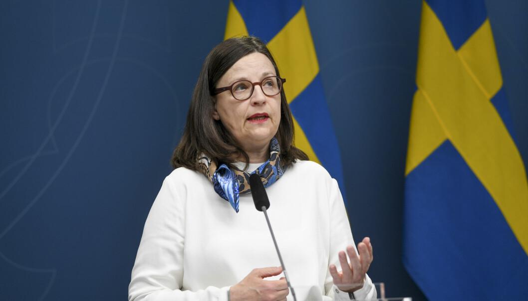 Sveriges kunnskapsminister Anna Ekström