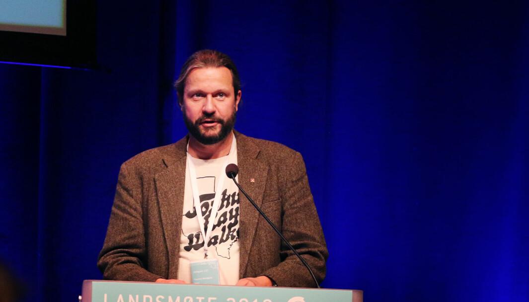 Thomas Nordgrd, leder i Utdanningsforbundet Troms, fotografert under Utdanningsforbundets landsmte som fant sted 4.-7. november 2019.