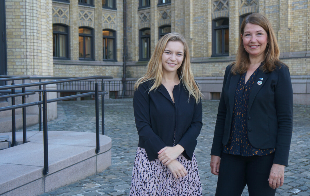 Mathilde Tybring-Gjedde og Turid Kristensen har tro på regjeringens mål om at 90 prosent skal bestå videregående.