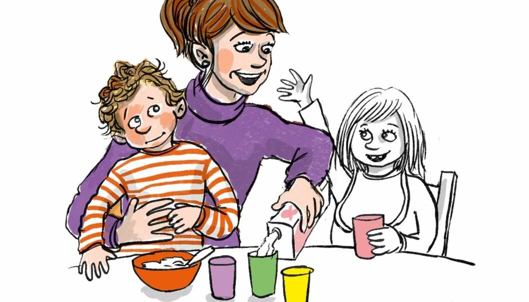 Barnehagelærerne driver med helhetlig tilnærming til læring hele tiden i barnehagen, ifølge artikkelforfatterne. Som når barnehagelæreren gir Harald trygget på fanget mens hun samtidig hjelper de andre barna.