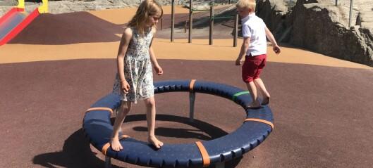 Uteområdet er en stor utfordring for noen barn
