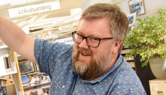 Vidar Lund, nyvalt leiar i Norsk Biblitekforening.