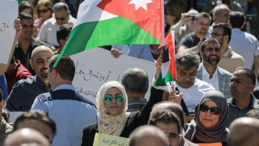 Jordanske styresmakter stengde lærarorganisasjon