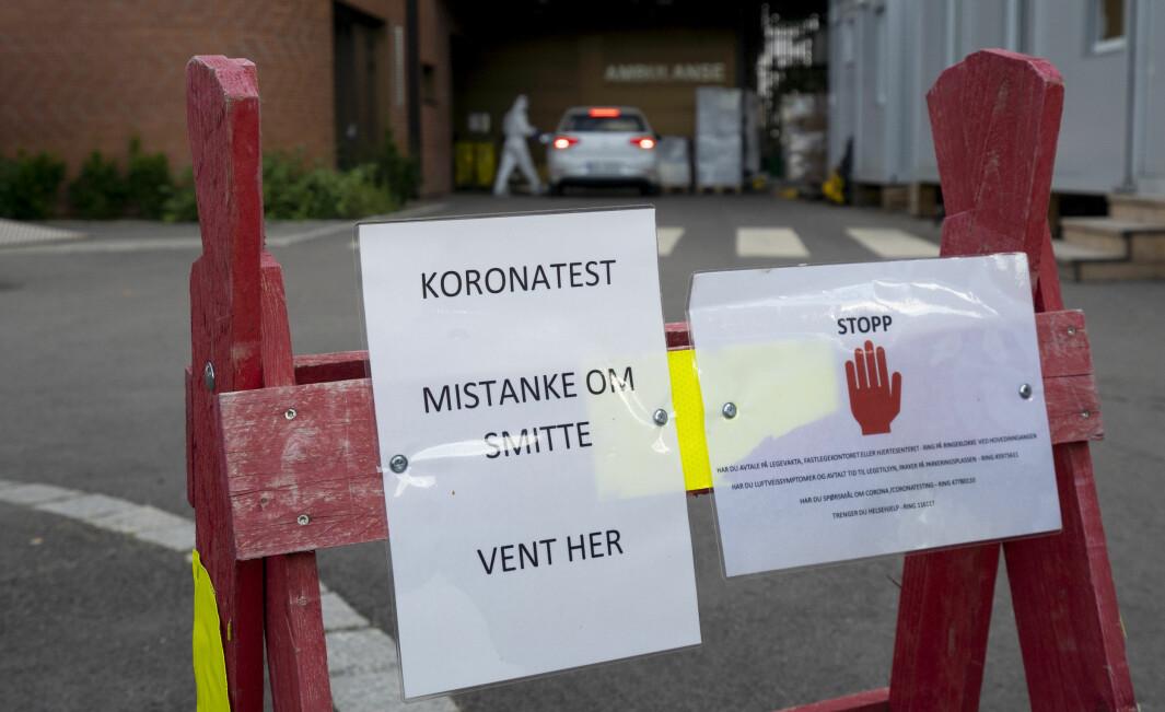 Det har den siste tiden vært stor spredning av koronaviruset i Indre Østfold. På legevakten i Askim er de full gang med teste nye for symptomer.