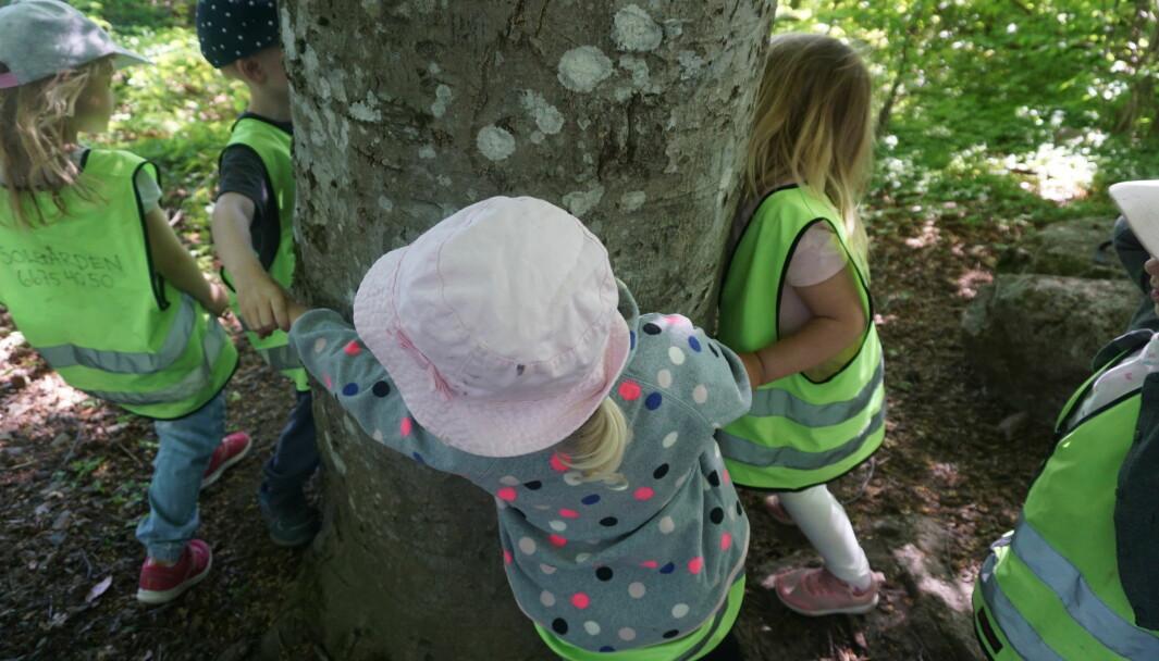 Barna i Solvang barnehager kjenner begrepet tykk på kroppen.