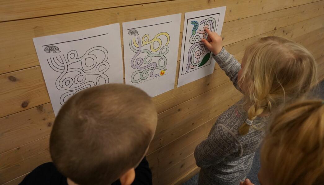I arbeidet med labyrinter så de barnehageansatte at barna utviklet sin logiske-matematiske tenkning fra at barna ikke forsto labyrintene i det hele tatt til at de klarte avanserte varianter.