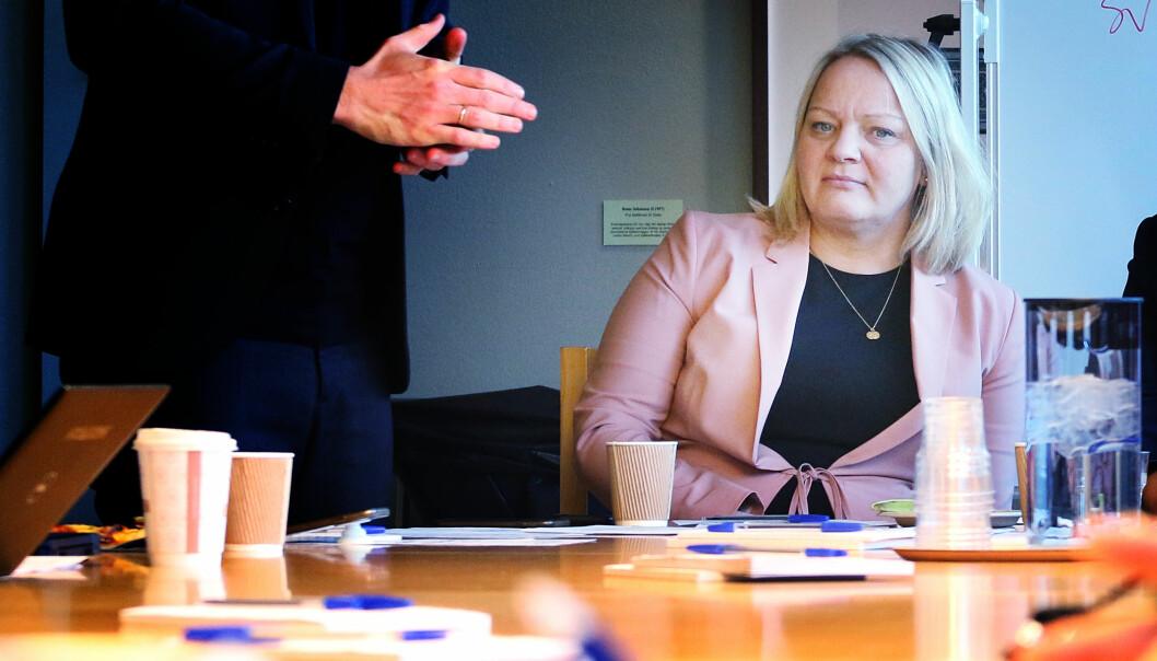 SVs stortingsrepresentant Mona Fagerås mener fraværsgrensa må endres fort. foto: Jørgen Jelstad