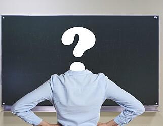 Spørsmål til elev (18): Kva er gale med læraryrket?