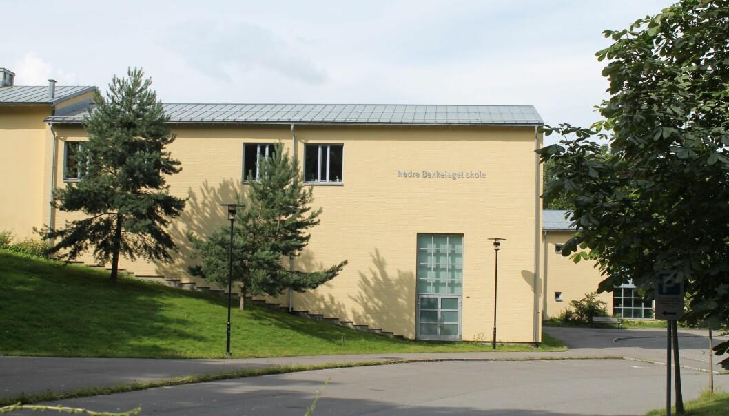 Nedre Bekkelaget skole er stengt på grunn av korona-smitte.